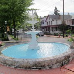 Fountain Square in Edwin Toth's hometown, Newville, Pennsylvania