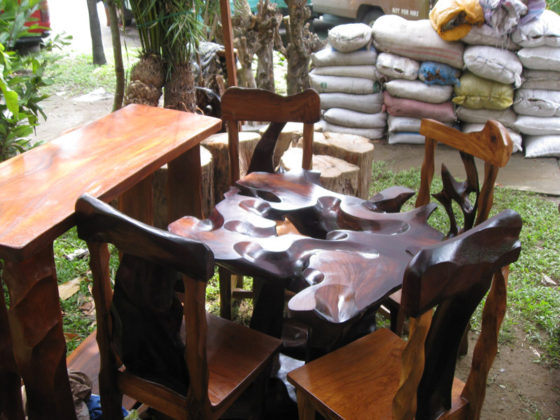 Narra wood table and chairs, 55,000 pesos. Plant and Nursery Shops, 69th Mid-year Orchid and Garden Show