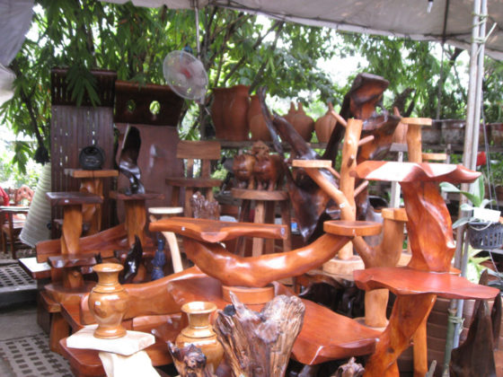 Wood plant stands. Plant and Nursery Shops, 69th Mid-year Orchid and Garden Show