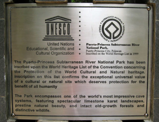 UNESCO designation of Underground River