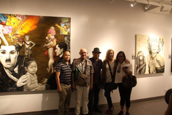 Jerry Jimenz, Ed Toth, Otto Neri, Jeanette Kamphuis and artist's friends.