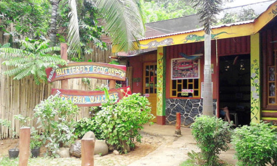 Entrance to the Butterfly Garden and Tribal Village