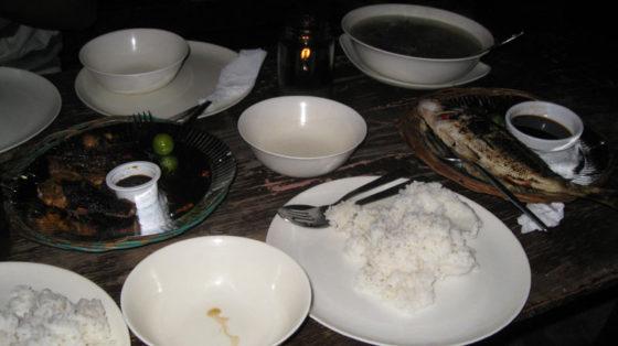 Rice and grilled pork, Baywalk Puerta Princesa