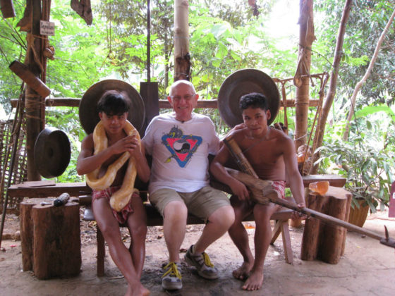 Ed with the Palaw'an boys and their pet snake