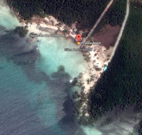 Aerial View of Pristine Beach, Puerto Princesa, Palawan