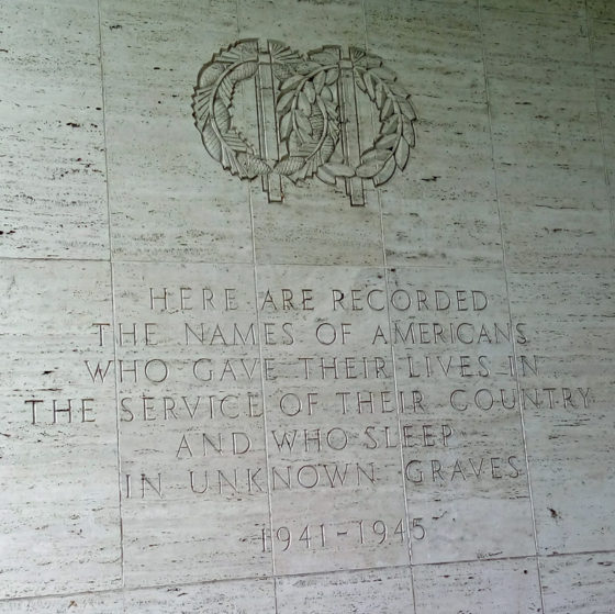 Here are Recorded the Names of Americans who Gave Their Lives in the Service of Their Country and Who Sleep in Unknown Graves 1941-1945 , Walls of Honor, American Manila Cemetery, Manila, Philippines