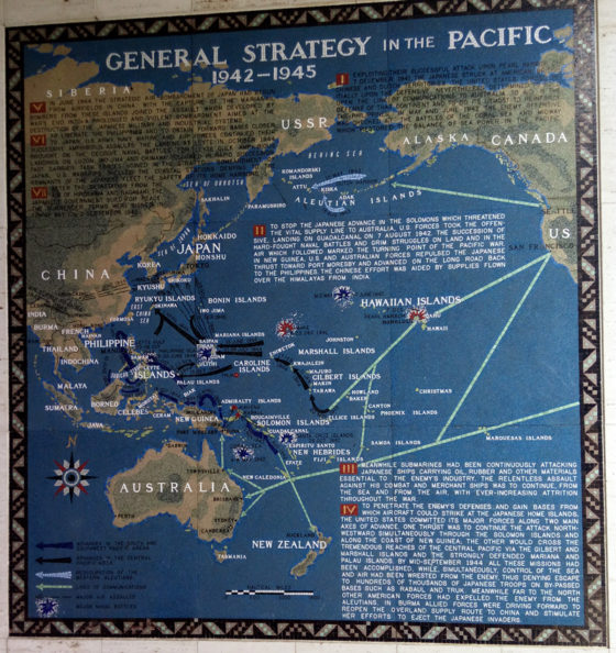 General Strategy in the Pacific 1942-1945, Pacific Operations Maps, American Manila Cemetery, Manila, Philippines
