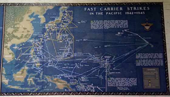 Fast Carrier Strikes in the Pacific 1942-1945, Pacific Operations Maps, American Manila Cemetery, Manila, Philippines