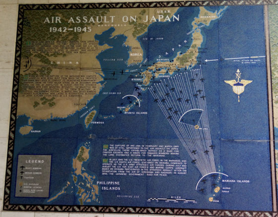 Air Assault on Japan 1942-1945, Pacific Operations Maps, American Manila Cemetery, Manila, Philippines