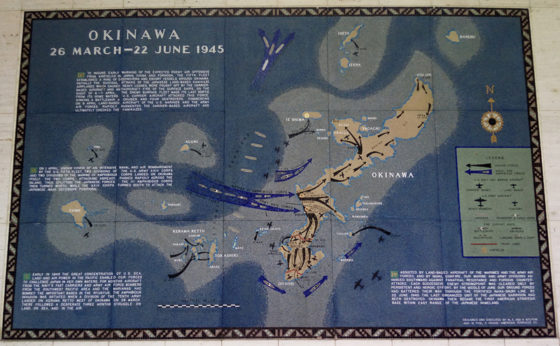 Okinawa 26 March - 22 June 1945, Pacific Operations Maps, American Manila Cemetery, Manila, Philippines