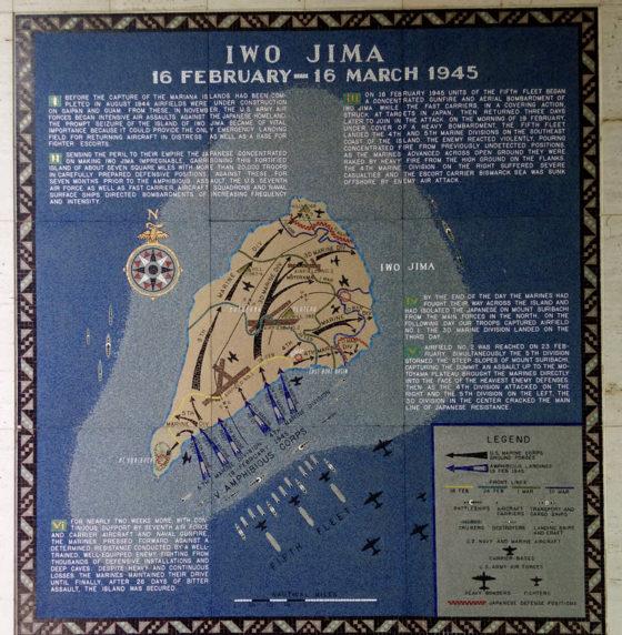 Iwo Jima 16 February - 16 March 1945, Pacific Operations Maps, American Manila Cemetery, Manila, Philippines