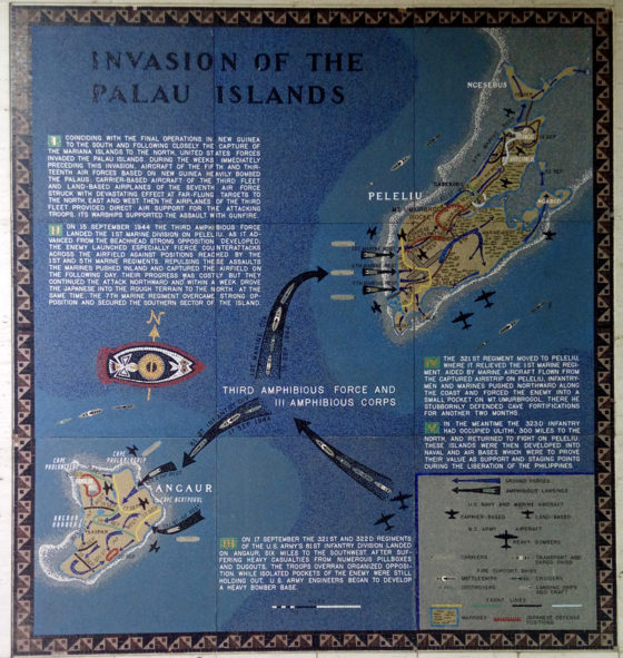 Invasion of Palau Islands, Pacific Operations Maps, American Manila Cemetery, Manila, Philippines