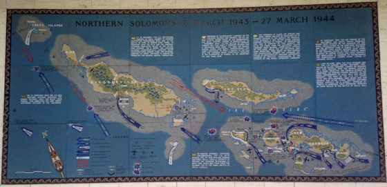 Northern Solomons 6 March 1943 - 27 March 1944, Pacific Operations Maps, American Manila Cemetery, Manila, Philippines