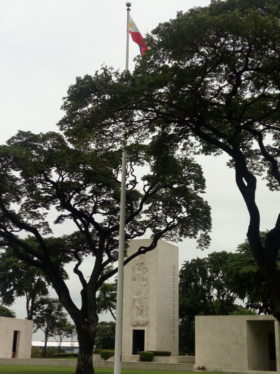 Philippines Flagpole and Memorial Chapel, American Manila Cemetery, Manila, Philippines