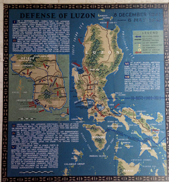 Defense of Luzon 8 Decembe 1941 - 6 May 1942, Pacific Operations Maps, American Manila Cemetery, Manila, Philippines