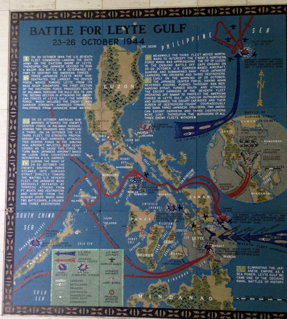 Battle for Leyte Gulf 23-26 October 1944, Pacific Operations Maps, American Manila Cemetery, Manila, Philippines