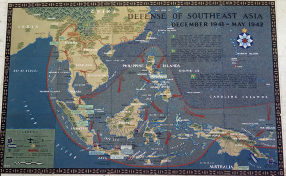 Defense of Southeast Asia December 1941 - May 1942, Pacific Operations Maps, American Manila Cemetery, Manila, Philippines