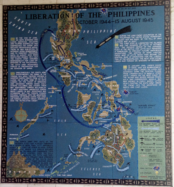 Liberation of the Philippines 20 October 1944 - 15 August 1945, Pacific Operations Maps, American Manila Cemetery, Manila, Philippines