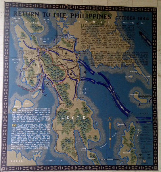 Return to the Philippines October 1944, Pacific Operations Maps, American Manila Cemetery, Manila, Philippines
