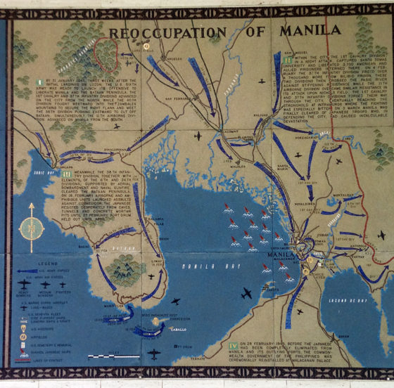 Reoccupation of Manila, Pacific Operations Maps, American Manila Cemetery, Manila, Philippines